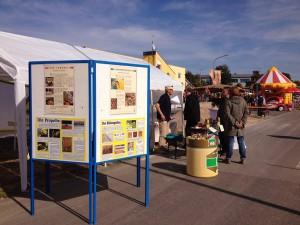 Informationsstand auf beim Kreiselfest im Nieder-Ramstadt