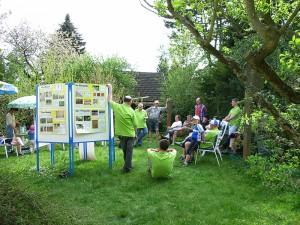Mühltaler Erlebnis-Radtour: Informationsstand im Garten des Vorsitzenden