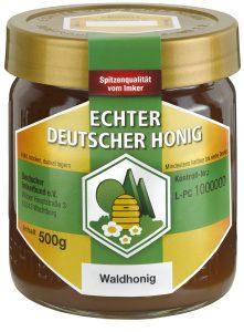 Honig im Glas des Deutschen Imkerbundes